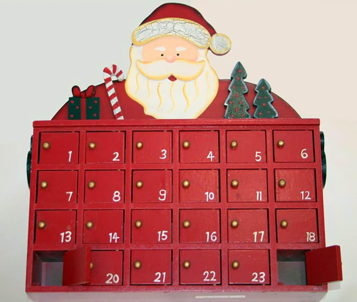 weihnachtsmann adventskalender aus holz. Black Bedroom Furniture Sets. Home Design Ideas