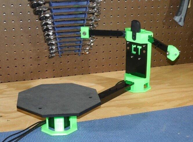 cowtech ciclop 3d scanner f r 99 us dollar zum selber bauen. Black Bedroom Furniture Sets. Home Design Ideas