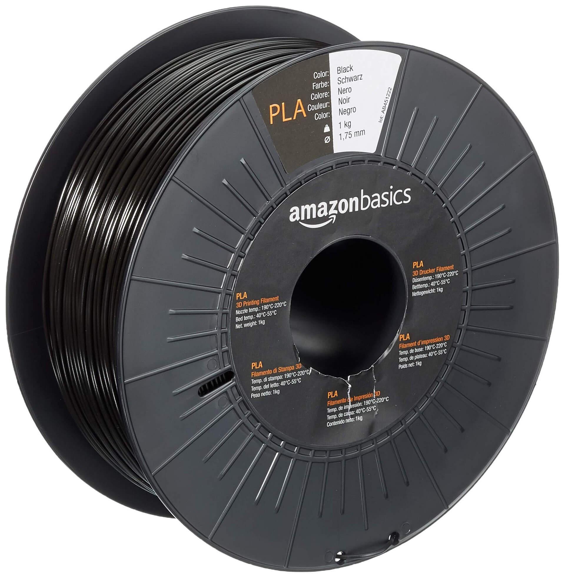 Amazon Basics PLA Filament 20,20 mm schwarz kaufen – 20D grenzenlos Shop