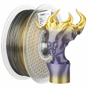 Mehrfarbiges glänzendes PLA-Filament – Gold-Blau