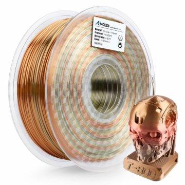 Mehrfarbiges glänzendes PLA-Filament – Metallfarben
