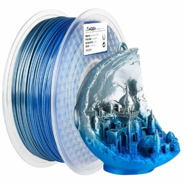 Mehrfarbiges glänzendes PLA-Filament – Silber-Blau