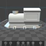 "App ""3D Builder"" 3D-Objekt Lokomotive"