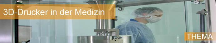 3D-Drucker in Labor mit Mediziner