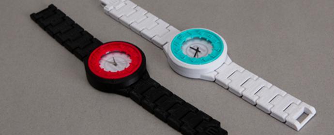 Uhr aus 3D-Drucker