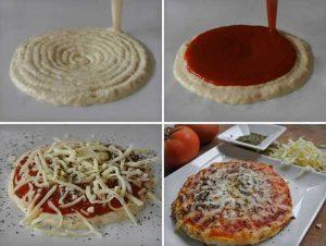 Pizza aus Foodini 3D-Drucker