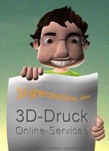 3D-Druck Online-Service, Webdienst und Internetplattformen