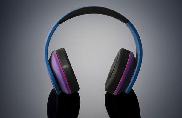 Kopfhöhrer aus 3D-Drucker in Farbe