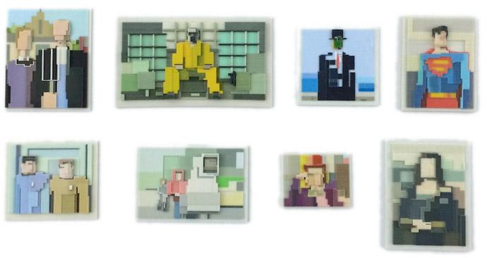 Kunst aus dem 3D-Drucker. 3D-Objekte im 8-Bit-Format