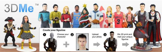 3DMe Screenshot mit verschiedenen 3D-Figuren als Beispiel