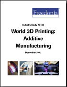 "Cover Marktstudie ""World 3D Printing 'Additive Manufacturing'"""
