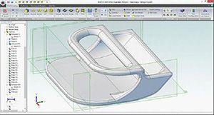Screenshot 3D-Modell iPad Verstärker für 3D-Drucker in CAD-Software