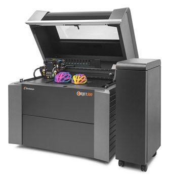 Objet500 Conex3 mit farbigen 3D-Objekt