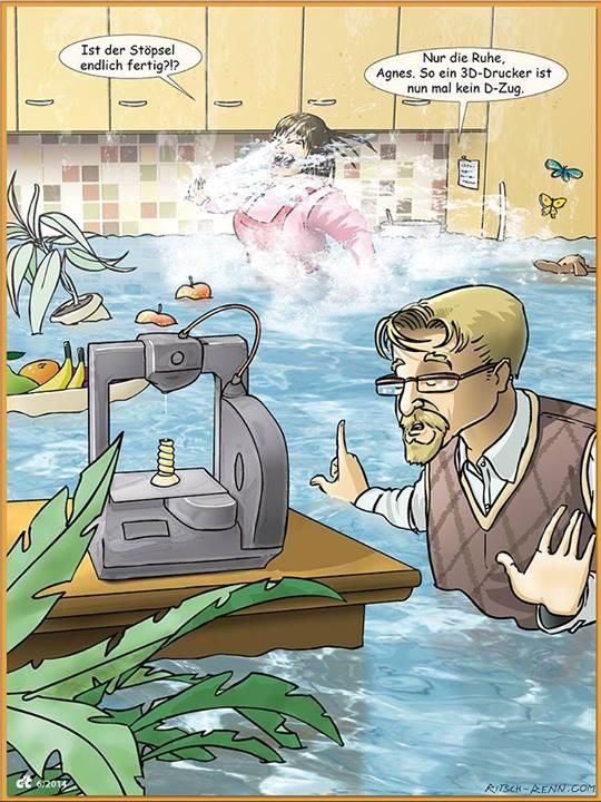 Cartoon 3D-Druck