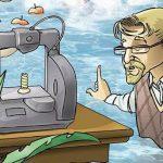 Cartoon 3D-Drucker