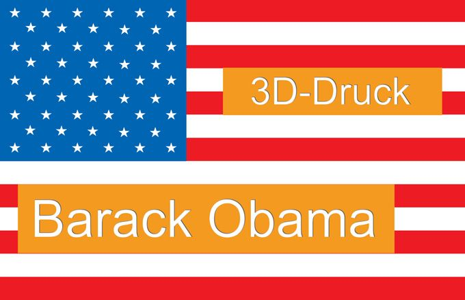 Barack Obama 3D-Druck/ 3D-Drucker