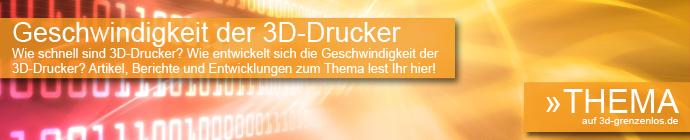 Geschwindigkeit 3D-Drucker