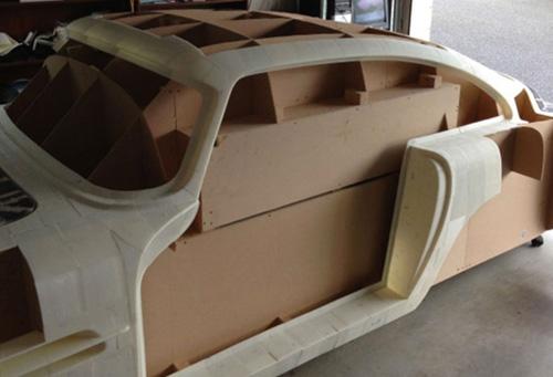 Verkleidung Auto Aston Martin aus 3D-Drucker