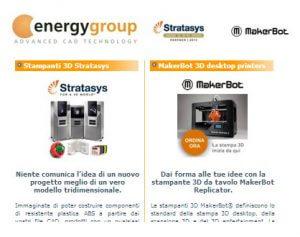 Energy Group, MakerBot und Stratasys