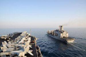 Flugzeugträger US-Navy mit Flugzeugen