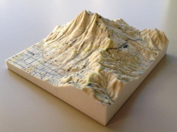 3D-Modell Karte Japan aus 3D-Drucker