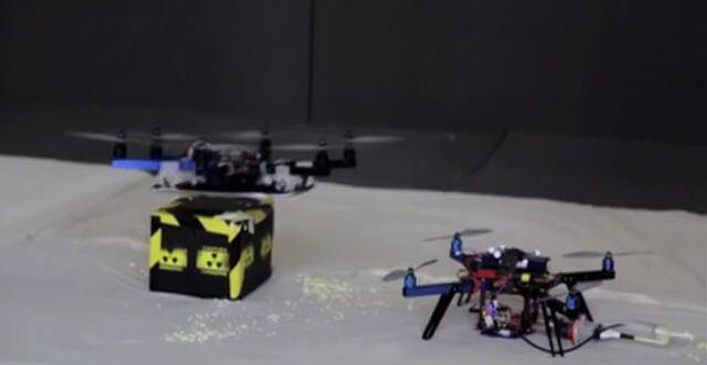 Fliegender 3D-Drucker als Art Drohne