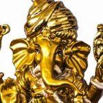 Ganesha als goldene Figur