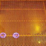 Lampemschirme aus dem 3D-Drucker während Produktion