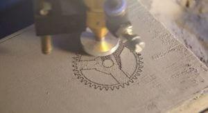 Druckobjekt mit Laserinter-3D-Drucker OpenSLS