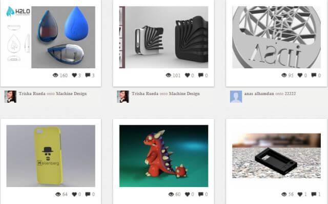 Das aktuelle Angebot im Marktplatz von MXD3D zeigt u.a. Handyhüllen, Spielzeug und Wohnraum-Designs zur Erstellung mit dem eigenen 3D-Drucker (Screenshot © makerpicks.mxd3d.com).