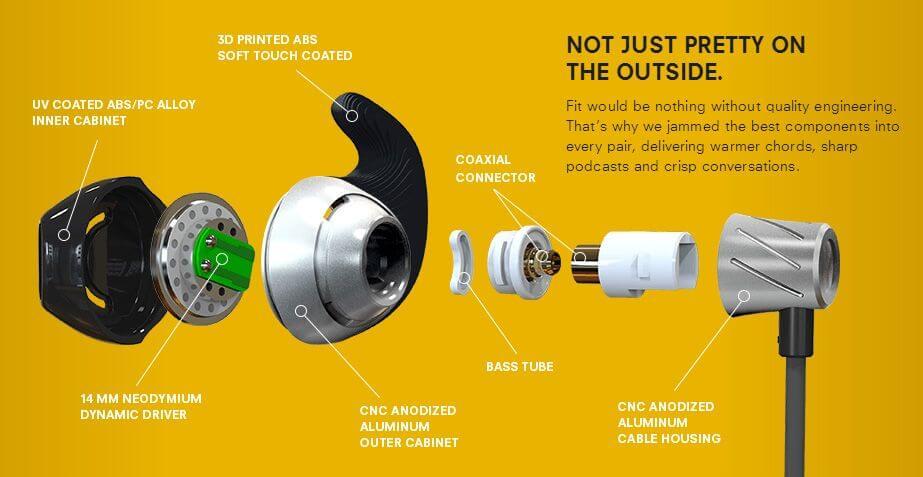 In-Ear-Ohrhörer von NORMAL aus 3D-Drucker