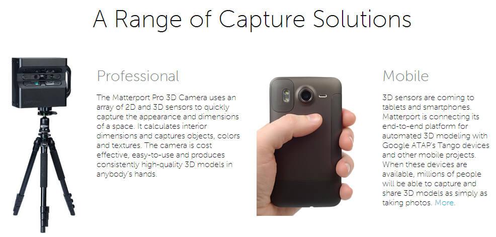 Angebot Matterport 3D-Kameras