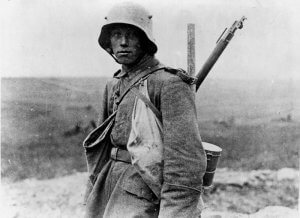 Foto von Mauser 98 mit Soldat