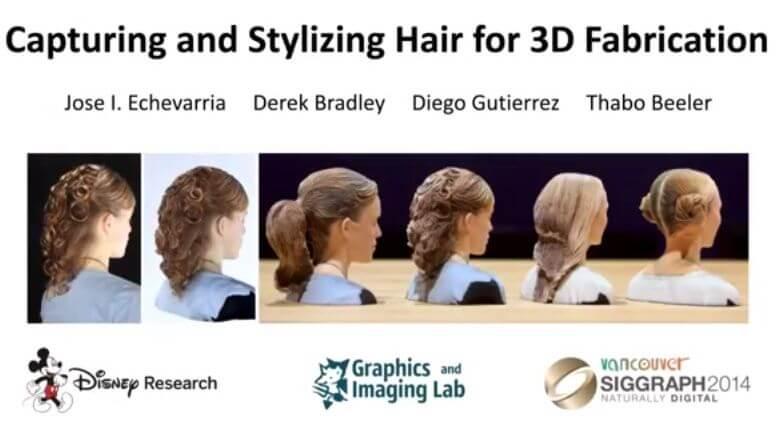 Bild: Haare aus dem 3D-Drucker
