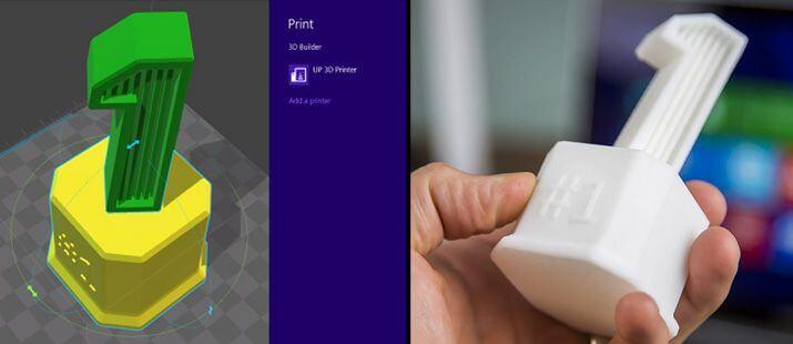 3D Builder App R5 Beispiel Pokal