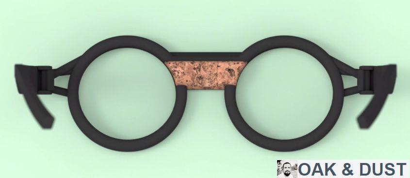 """Brille von Adrian Goegl """"Oak & Dust"""" mit Kork und aus dem 3D-Drucker"""