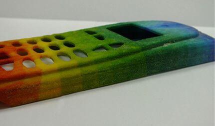 Farbige Handyschale aus dem 3D-Drucker