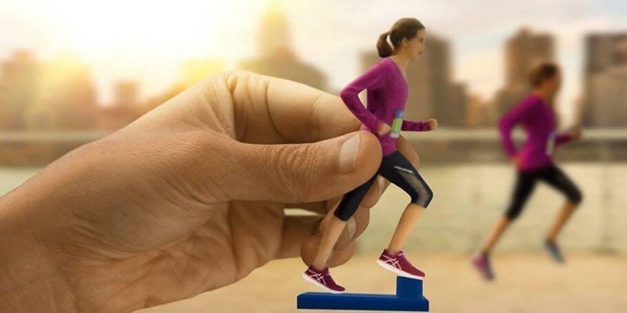 Marathon 3D-Selfie aus 3D-Drucker