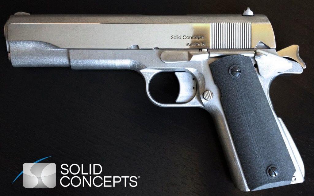 Pistole aus 3D-Drucker in Metall