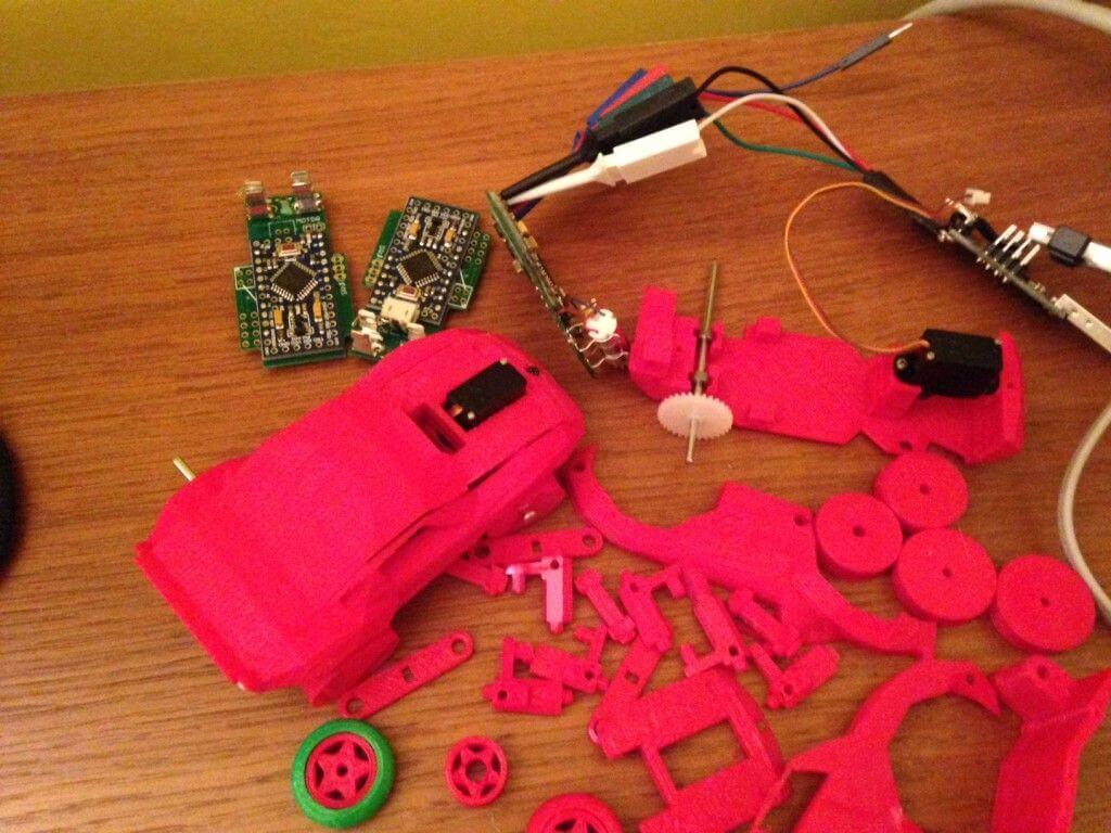 Einzelteile 3D-Drucker Auto