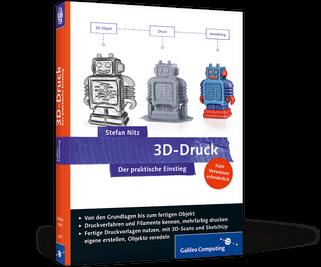 """Buchcover """"3D-Druck – Der praktische Einstieg"""" von Stefan Nitz"""