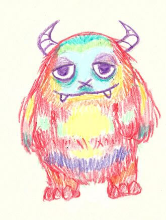 Kinderzeichnung von einem Monster