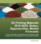"""Cover – """"3D Printing Materials 2015-2025 Read more at: http://www.idtechex.com/research/reports/3d-printing-materials-2015-2025-status-opportunities-market-forecasts-000416.asp"""""""