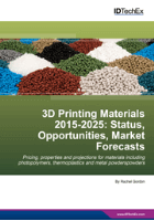 "Cover – ""3D Printing Materials 2015-2025 Read more at: http://www.idtechex.com/research/reports/3d-printing-materials-2015-2025-status-opportunities-market-forecasts-000416.asp"""