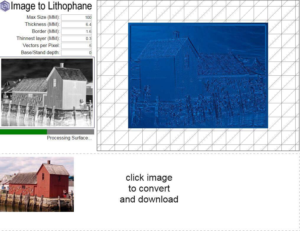 Lithopane in 3D für 3D-Druck
