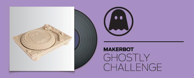 Logo Makerbot Ghostly Vinyl Challenge