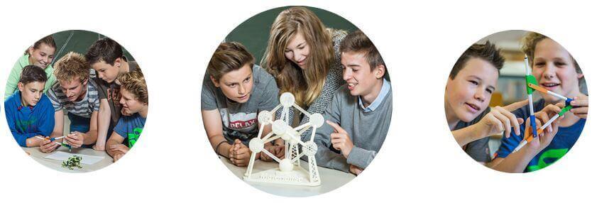 Schüler mit 3D-Druck