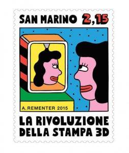 Briefmarke 3D-Selfie