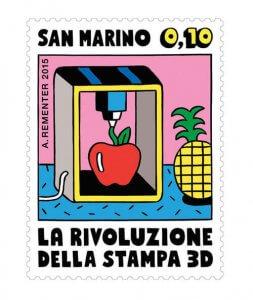 Briefmarke 3D-Lebensmitteldruck