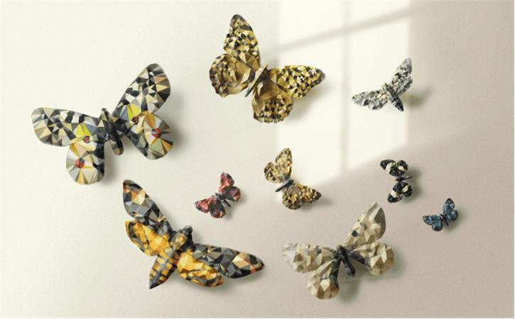 Detailgetreue Schmetterlinge mit dem 3D-Drucker kreieren